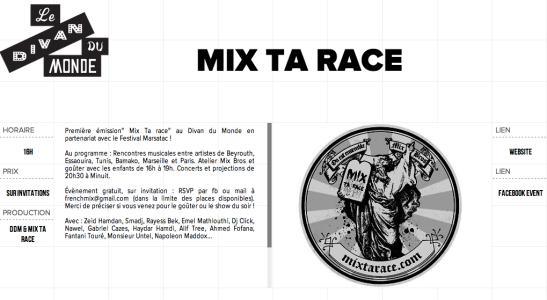 mix ta race divan du monde zeid hamdan