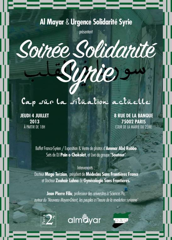 soiree syrie soutour