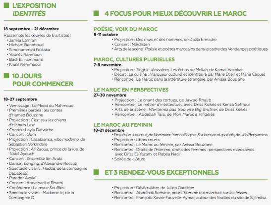 programme Maroc ICI automne 2014